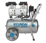 Hyundai 55752 Stille compressor olievrij - 8 bar - 24L