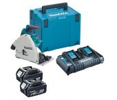 Makita DSP600PT2J 36V (2x 18V) Li-Ion accu Invalzaag set (2x 5,0Ah accu) in Mbox - 165 x 20 mm - koolborstelloos