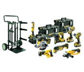 DeWalt DCK897P4 18V Li-Ion accu 8 delige combiset (4x 5.0Ah accu) in DS koffer + trolley - DCK897P4-QW