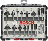 Bosch 2607017472 15-delige Frezenset in cassette - 8mm