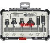 Bosch 2607017468 6-delige Frezenset in cassette - Afronden en profileren - 6mm