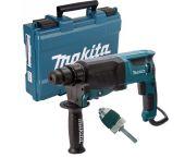 Makita HR2630X7 SDS-plus Marteau combiné avec mandrin à serrage rapide dans l'étui - 800W - 2,4J