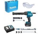 Makita DCG180RMX Pistolet à mastic à batteries 18V Li-Ion set (1x batterie 4.0Ah) inclu. support cartouche dans coffret