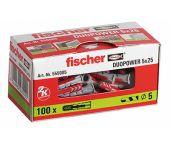 fischer 555005 - Cheville bi-matière DuoPower 5 x 25 sans vis (100pcs) DuoPower 5 x 25