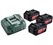 Metabo 685048000 Set de base Li-Ion 18V (3x batterie 5.2Ah) + chargeur
