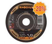 Rhodius 207437 Alphaline I XT70 - Disque à tronçonner - extra fin - 125 x 22,23 x 1mm - inox/acier (25pcs) - 211078