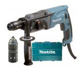 Makita HR2470FT Perfo-burineur SDS-plus extra mandrin interchangeable inclus dans coffret - 780W - 2.4J