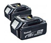 Makita BL1840B - Lot de 2 batteries Li-Ion 18V - 4.0Ah (2pcs)