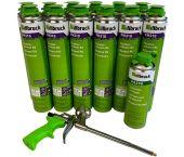 Illbruck PUR Super Set - Mousse PU FM310 (12pcs) - avec pistolet et nettoyant