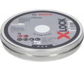 Bosch 2608619266 - X-LOCK Disques à tronçonner dans boîte 10x Standard for Inox 10x115x1x22.23mm, plat