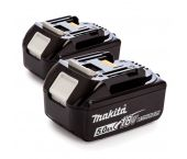 Batterie Makita 197288-2 BL1850B Duopack 18V Li-ion - 5.0Ah (2 pièces)